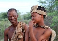 The Khoisan, ethnic groups in Southern Africa, traditionally live as a hunterers and gatherers.
