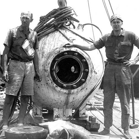 1933: Manned, spherical deep sea submersibles  <br /><br />