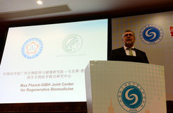 Hans Schöler during the conference in Guangzhou, China.