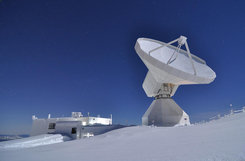 <p>Listening post into space: IRAM's 30-metre dish is one of the most sensitive radio telescopes in the global collaboration known as the Event Horizon Telescope.</p> <p> </p>