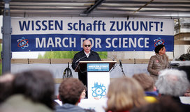 Global movement for science People were taking to the streets on the March for Science in more than 600 towns around the world © Amac Garbe/MPG