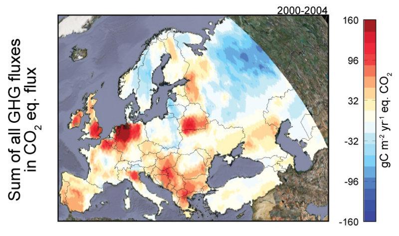 Um zu berechnen, ob die Landschaft Europas Treibhausgase speichert oder freisetzt, haben Klimaforscher erstmals auch Methan- und Stickoxidemissionen a