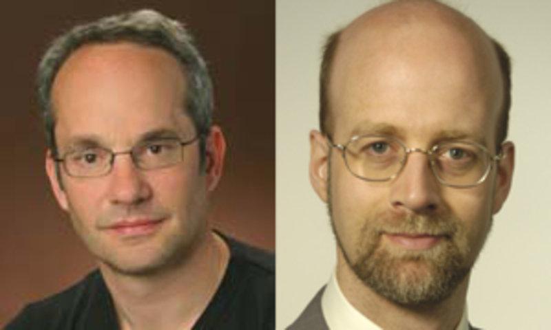 Anthony A. Hyman (Max-Planck-Institut für Molekulare Zellbiologie und Genetik, Dresden) und Bernhard Keimer (Max-Planck-Institut für Festkörperforschu