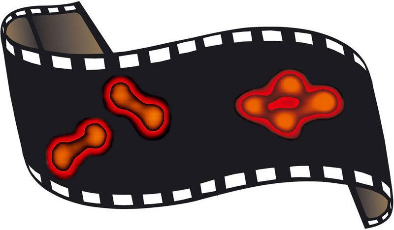 Rastertunnelmikroskopie-Aufnahme von einzelnen L- und D-Diphenylalanin-Molekülen, die auf einer Kupfer-Oberfläche adsorbiert sind. Wie die Moleküle ih