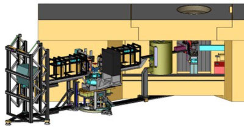 Schematic representation of the neutron spectrometer N-EX+.
