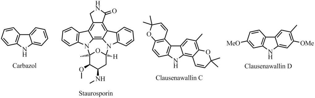 Abb. 2: Strukturen von Carbazolalkaloiden