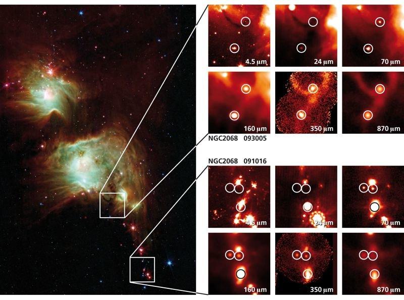 Abb. 2: Dieses Übersichtsbild zeigt den Reflexionsnebel M 78 (alternative Bezeichnung: NGC 2068) im Sternbild Orion, aufgenommen mit dem Weltraumteles