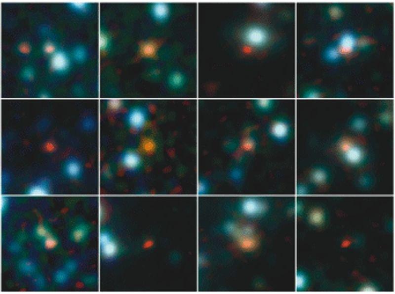 Abb. 1: Ein Astronomenteam unter Beteiligung von MPIA-Forschern hat mit dem neuen Atacama Large Millimeter/submillimeter Array (ALMA) die Positionen v