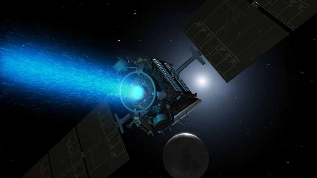 <p>Er läuft und läuft und läuft: <em>Dawns</em> Ionenantrieb macht es möglich, nacheinander zwei Körper im Asteroidengür