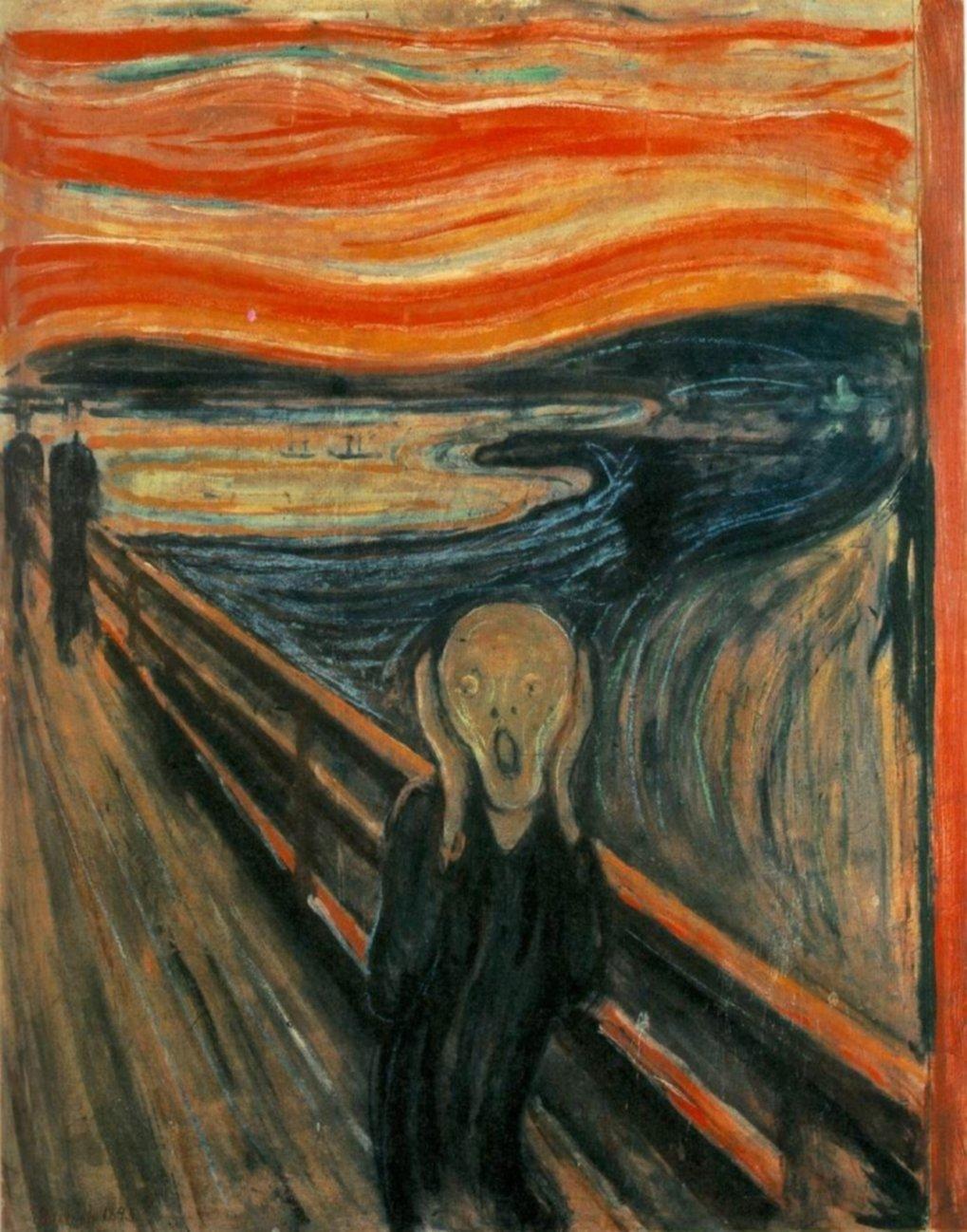 """""""Der Schrei"""" des norwegischen Malers Edvard Munch gilt neben Leonardo da Vincis """"Mona Lisa"""" und Vincent van Goghs Variationen der Sonnenblumen als ein"""