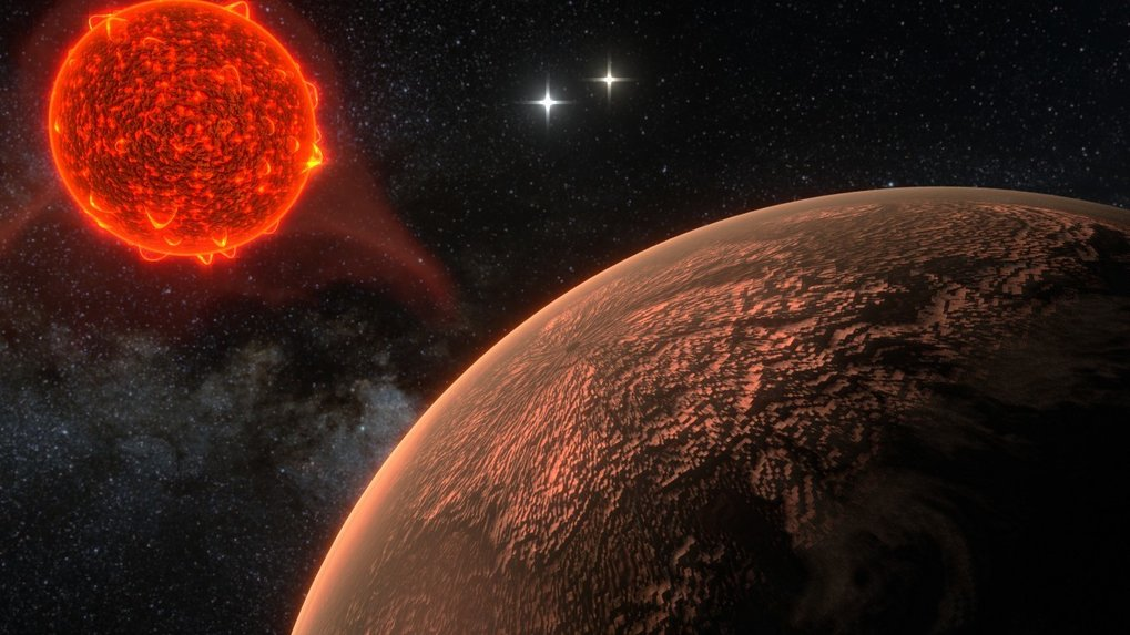 <p>Glimpse of a new world: artist's impression of the newly discovered planet orbiting Proxima Centauri, at a distance of 4.24 light-years the fixed s
