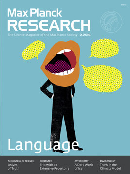 Max Planck Research Magazine: Focus Language