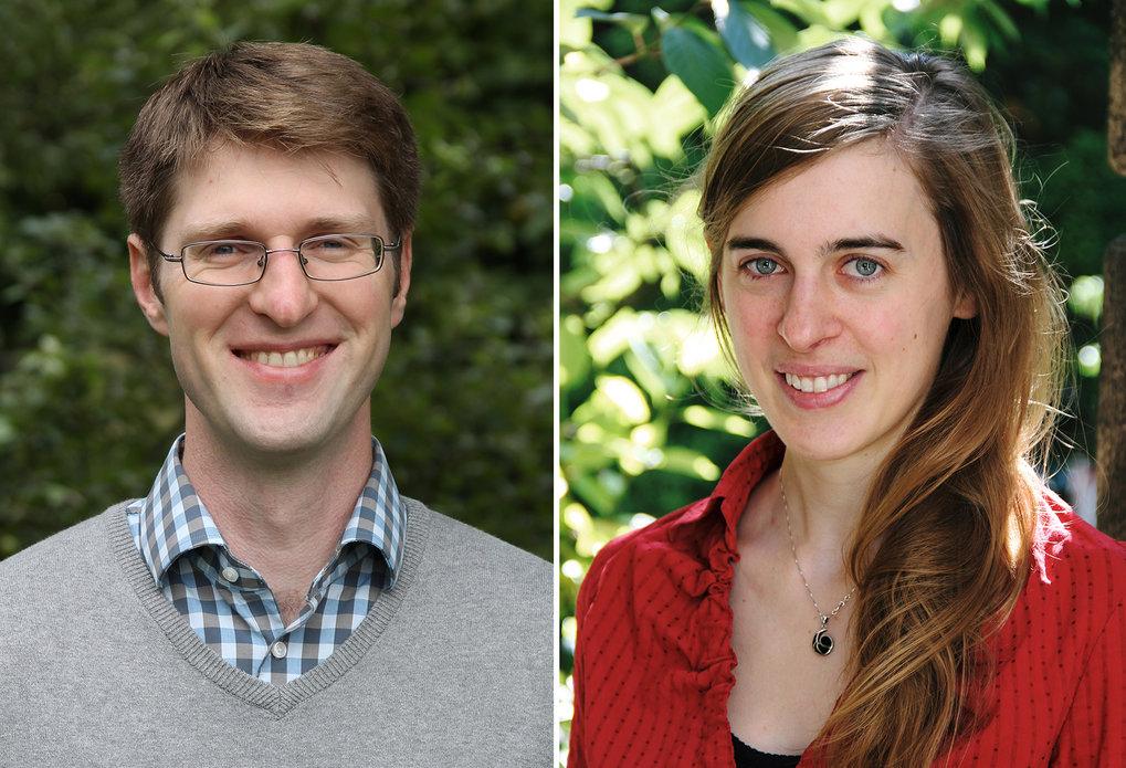 Karl Duderstadt und Susanne Mertens - zwei der sieben Max-Planck-Forschungsgruppenleiter, die auch auf Tenure-Track-Stellen der TUM berufen wurden.