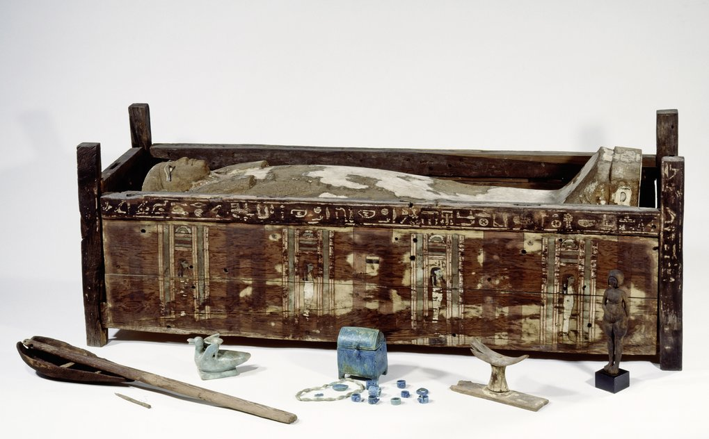 The sarcophagus of Tadja, Abusir el-Meleq. Scientists have analyzed DNA from 90 ancient Egyptians, including that of Tadja, Abusir el-Meleq.