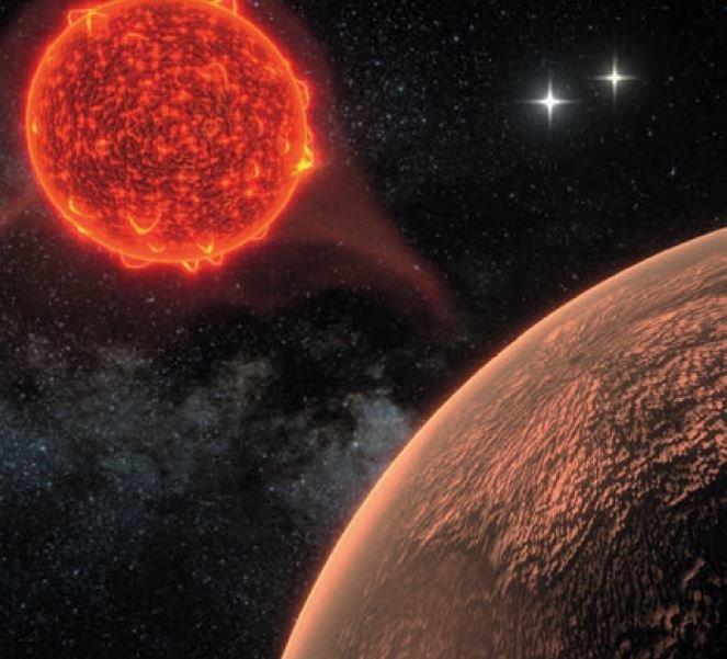 Blick auf eine neue Welt: Die künstlerische Darstellung zeigt den erdähnlichen Planeten um den mit 4,24 Lichtjahren nächstgelegenen Fixstern Proxima C