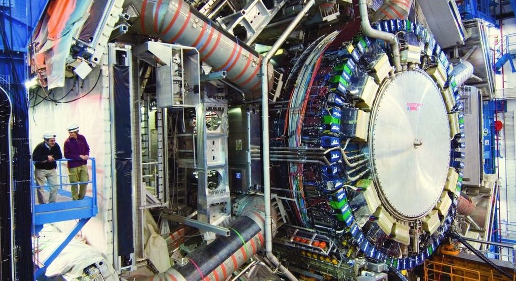 <p>Atlas detector: The biggest machine ever built by humans is searching for indications of a 'new physics' in particle decays, for example for supersymmetric particles. </p>