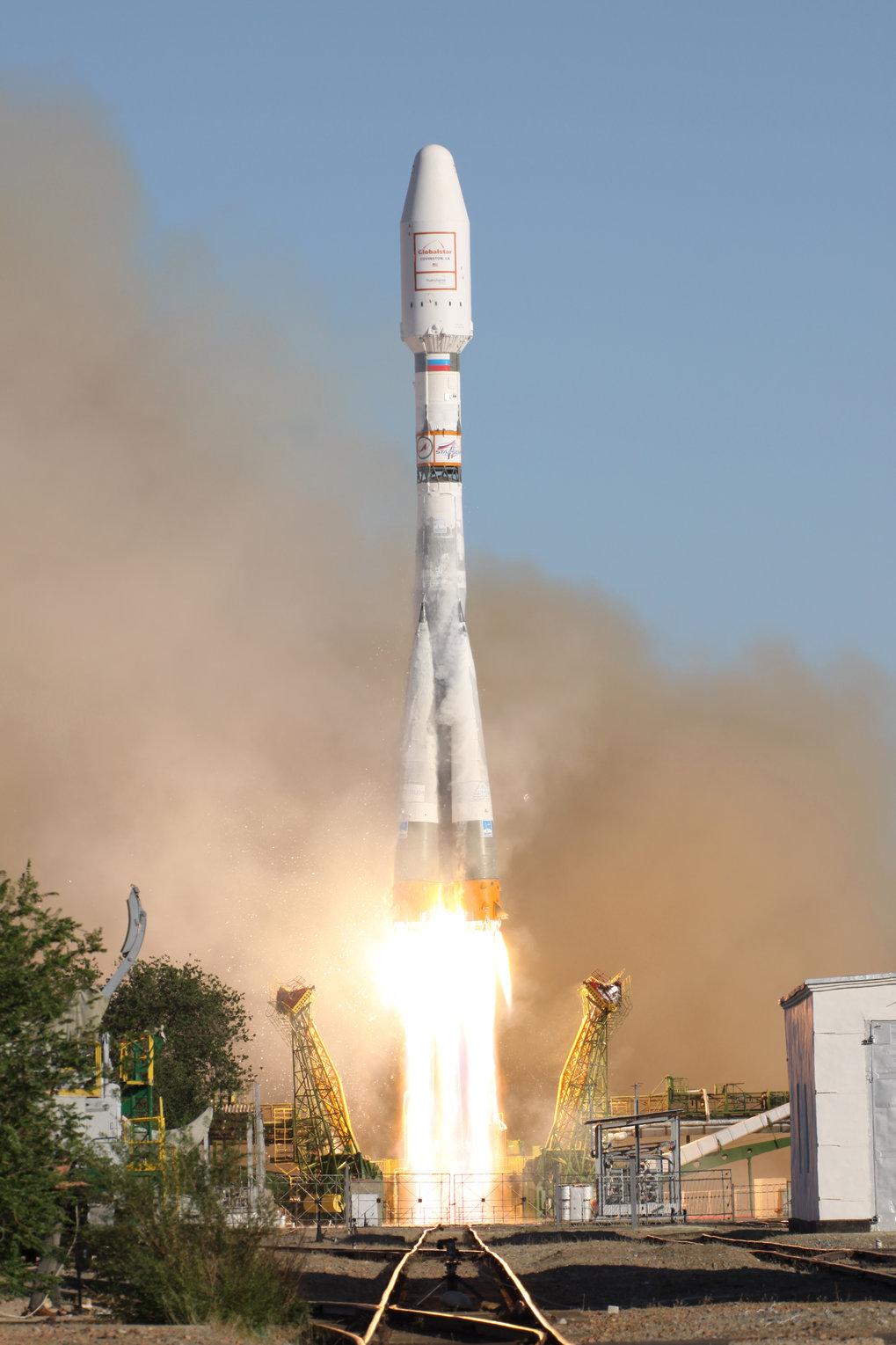 Start einer Sojus 2-1A vom Cosmodrom in Baikonur. Eine Rakete dieses Typs hat nun die erste Icarus-Komponente zur ISS gebracht. Im Bordcomputer OBC-I