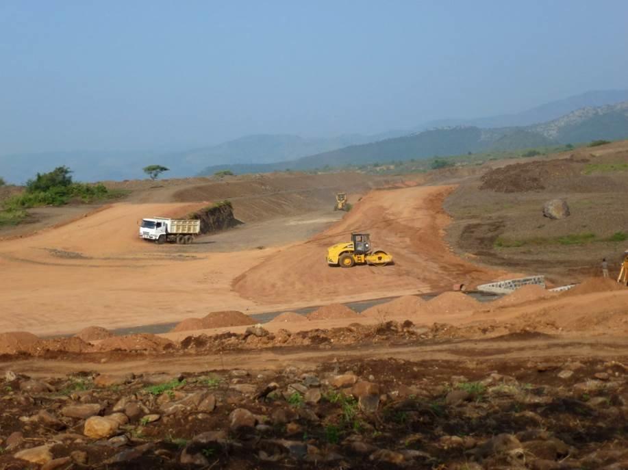Abb. 1: Kanalbauarbeiten im Gebiet der Mela