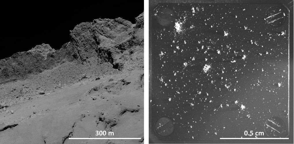 Blick auf eine fremde Welt: Wenn der Komet 67P/Churyumov-Gerasimenko sich der Sonne nähert, verdampfen gefrorene Gase unterhalb der Oberfläche und rei