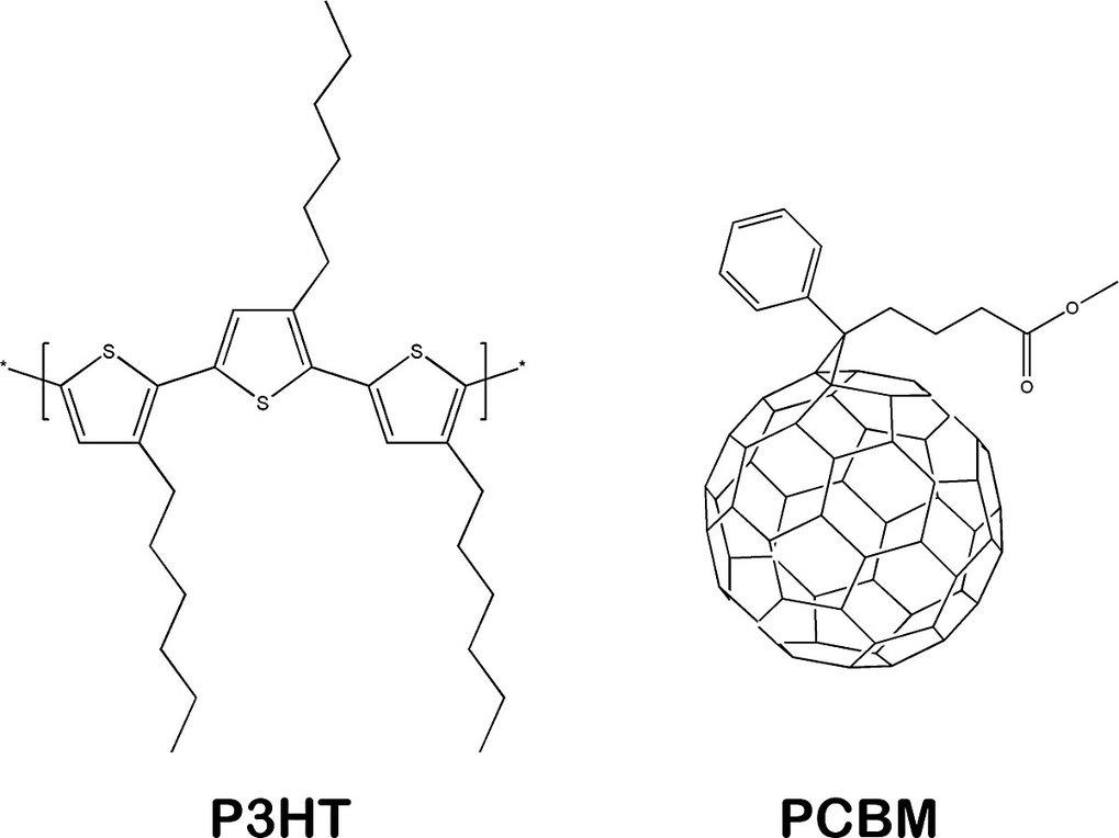 <b>Abb. 3: </b>Typische Verbindungen in organischen Solarzellen.