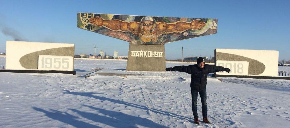"His first countdown: Martin Wikelski in Baikonur /<span class=""st"">Kazakhstan</span>"