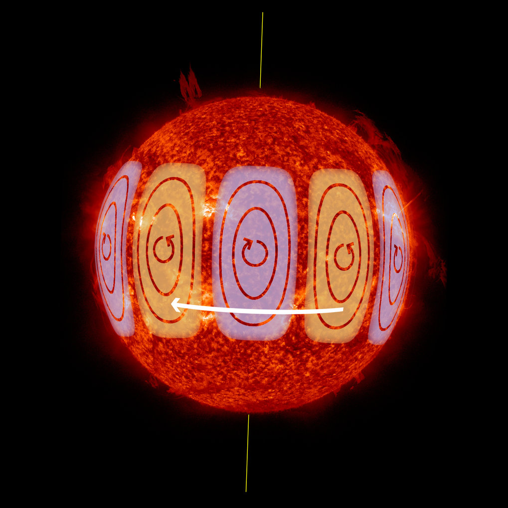 Giant swirls on the Sun