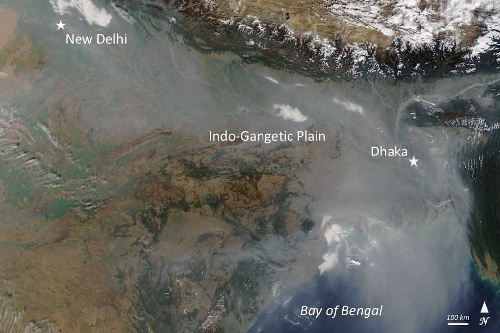 The South Asian monsoon both pollutes and purifies the air