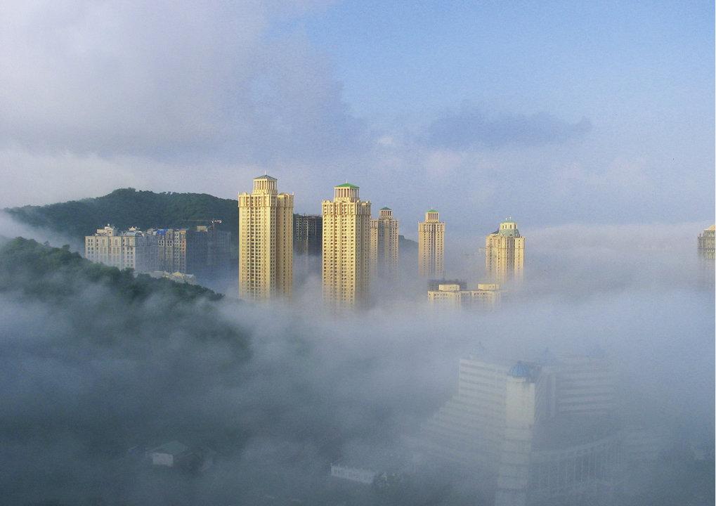 Bedrohliche Atemluft: Luftverschmutzung durch Smog wie hier im indischen Mumbai verursacht tödliche Krankheiten. So starben im Jahr 2015 durch Feinsta