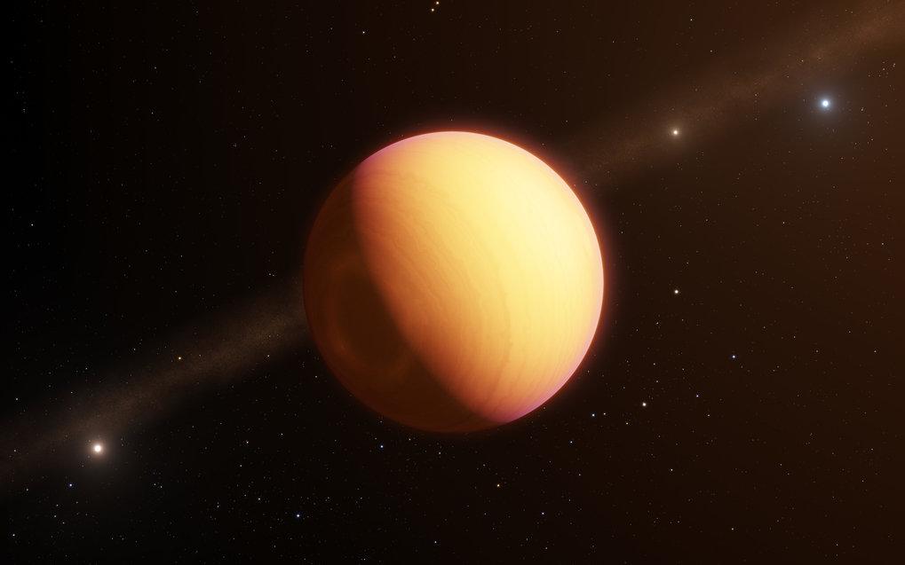 Fremde Welt: Der Exoplanet HR 8799 e konnte mithilfe der neuen Technik getrennt vom Mutterstern HR 8799 spektroskopiert werden. Hier eine künstlerisch