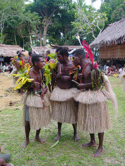 Men from Rossell Island of Papua New Guinea.