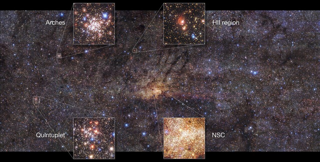 ESO Telescope Images Stunning Central Region of Milky Way, Finds Ancient Star Burst