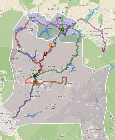 Flexible Routen: Der EcoBus ist auch in ländlichen Gegenden unterwegs, in denen es keinen Linienverkehr gibt. Ein Beispiel für Strecken, auf denen die