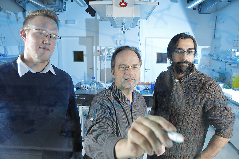Maßgeschneiderte Mobilität: Christoph Brügge, Stephan Herminghaus und Tariq Baig-Meininghaus (von links) gehören zu dem Team, das den EcoBus entwickel
