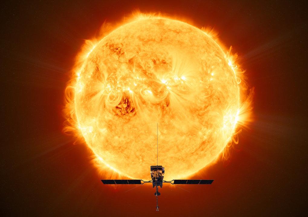 Auf Tuchfühlung mit unserem Stern: Am sonnennächsten Punkt werden Solar Orbiter nur etwa 42 Millionen Kilometer von der Sonne trennen.