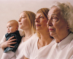 Four generations of one family. Ageing is a complex process of accumulation of damage. Studying ageing in humans is a long-term process.