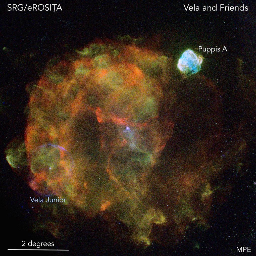 Tod eines Sterns: Der Vela-Supernova-Überrest ist aufgrund seiner Größe und der geringen Entfernung zur Erde eines der prominentesten Objekte am Röntg