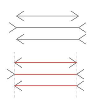 Teilweise Täuschung: Vor allem in der westlichen Welt schätzen Menschen die Linien zwischen den Pfeilspitzen fälschlicherweise als unterschiedlich lan