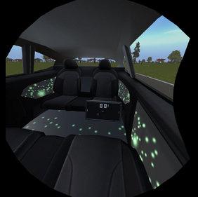Blick durch die VR-Brille.