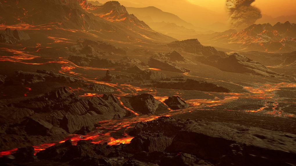 Unwirtliche Gegend: Diese künstlerische Darstellung zeigt die Oberfläche der neu entdeckten heißen Super-Erde Gliese 486b. Mit einer Temperatur von et