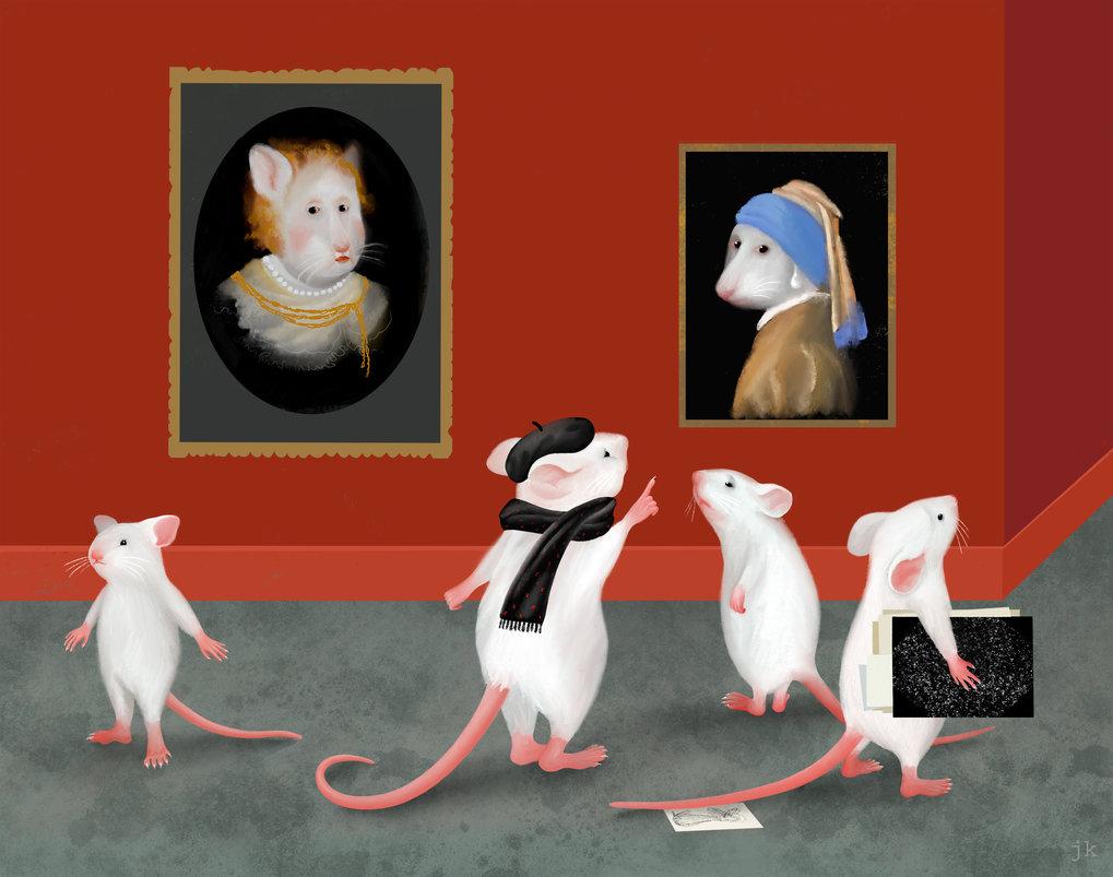 Mäuse können Experten darin werden, Bilder anhand feiner Unterschiede zu sortieren. Teile des erworbenen Wissens wird in frühen visuellen Hirnarealen