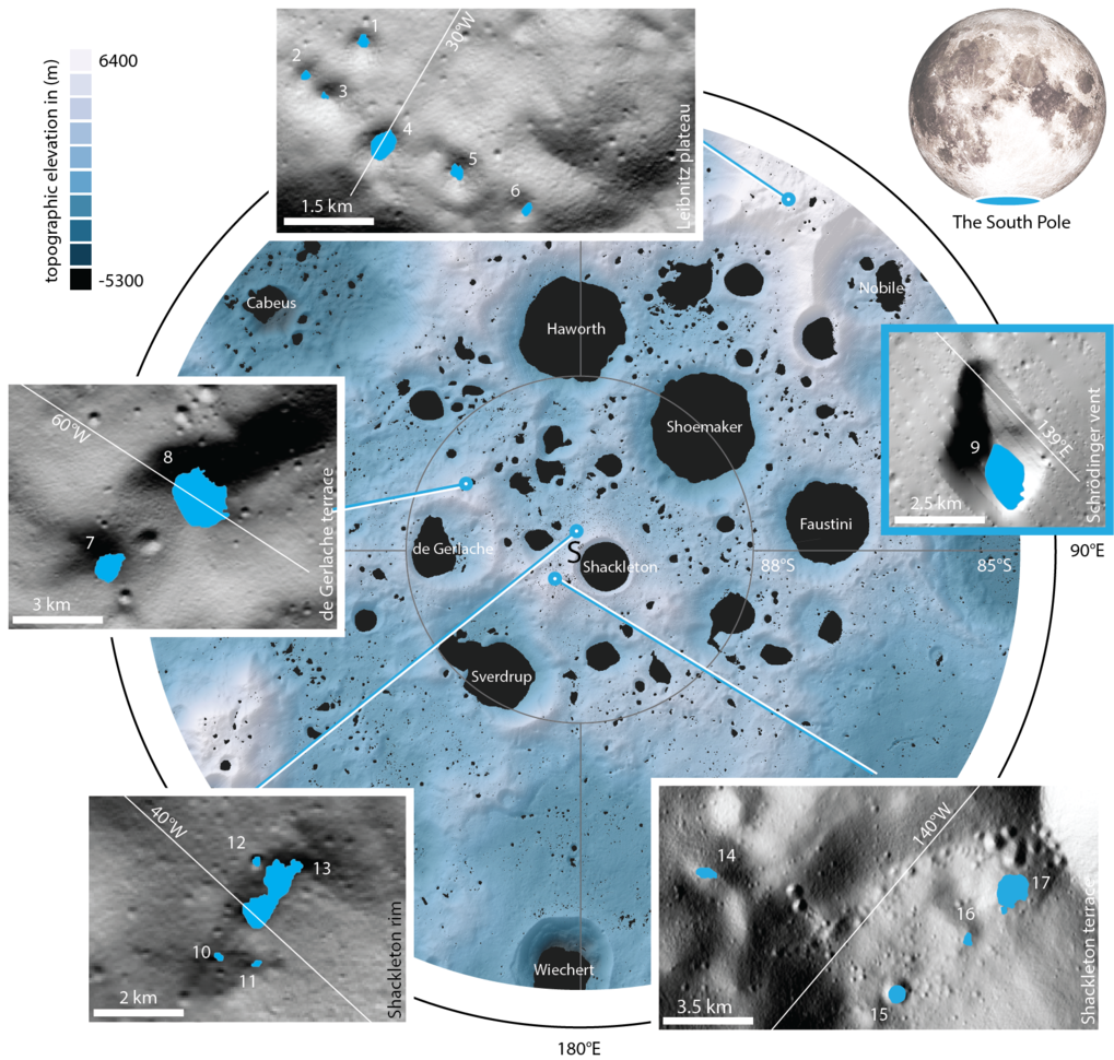 The Moon's polar regions are home to craters and other depressions that never receive sunlight. Today, a group of researchers led by the Max Planck