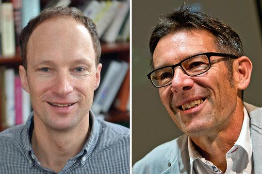 Walter Jetz, Yale University (links) und Martin Wikelski vom Max-Planck-Institut für Verhaltensbiologie.