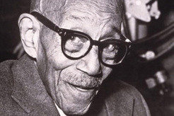<b>Eubie Blake (1883–1983), ragtime composer and pianist, on his one-hundredth birthday, 5 days before his death.</b>