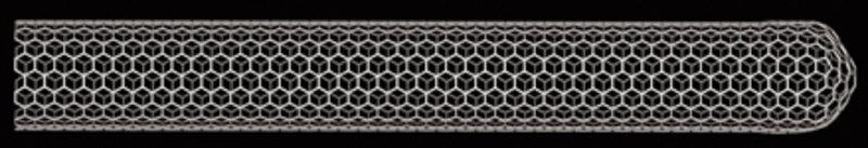 Computermodell einer Kohlenstoff-Nanoröhre.