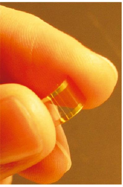 Transparenter Transistor auf der Basis von Nanoröhren.