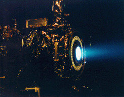 Unconventional engine: An ion engine provides <i>Dawn</i> with the propulsion it needs.<br>