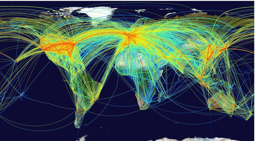 Mobility networks determine the spread of epidemics.