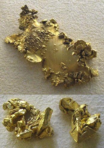 Wo ist Gold entstanden? Lange war der kosmische Ursprungsort dieses seltenen Edelmetalls – hier natürliche Goldklumpen aus Kalifornien und Australien