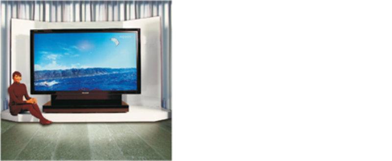 Großformatige Flachbild-Fernseher, wie der Sharp Aquos 108 mit einer Bilddiagonalen von 2,73 Metern, wurden erst durch die Dünnschichttechnologie mögl