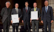 Since its introduction in 2004, the Max Planck Research Award has been  conferred on two internationally renowned scientific researchers. It is  awarded in each case to a scientist working in Germany and to a  scientist working abroad.